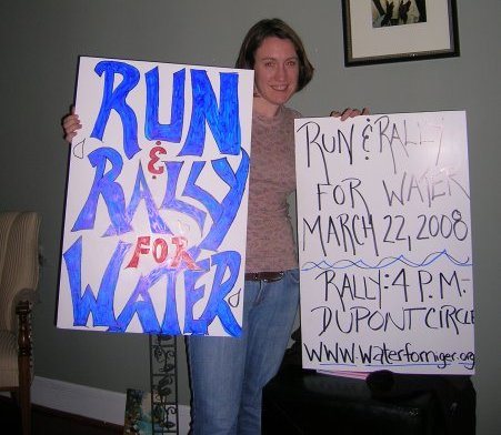 Laurel organized A Run for Water in 2008 3