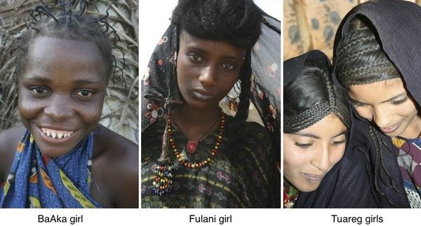 BaAka Fulani Tuareg women column 2